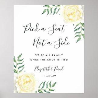 Rosas e azeitonas que Wedding o poster do assento