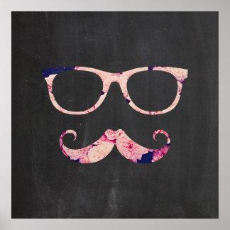 Rosas e bigode pôster