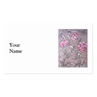 Rosas e espinhos cartão de visita