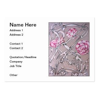 Rosas e espinhos cartão de visita grande