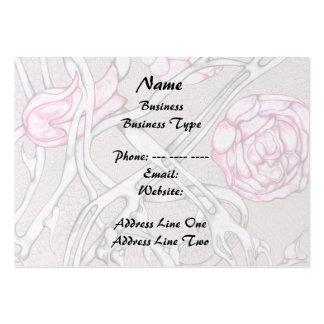 Rosas e espinhos cor-de-rosa cartão de visita grande
