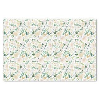 Rosas e lenço de papel românticos das hortaliças