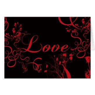 Rosas e videiras do amor cartão comemorativo