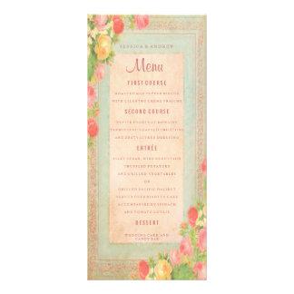Rosas elegantes do vintage que Wedding o menu