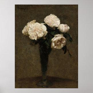 Rosas em um vaso poster