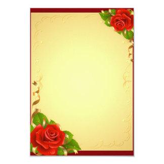 Rosas feitos sob encomenda convite 8.89 x 12.7cm