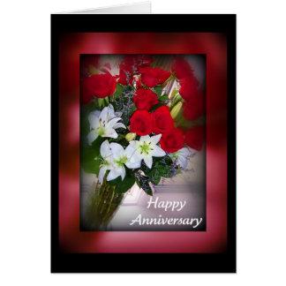Rosas felizes do aniversário cartão comemorativo