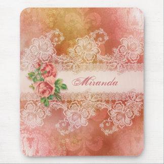 Rosas femininos e Mousepad personalizado laço