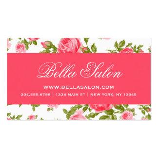 Rosas florais do vintage elegante chique feminino cartão de visita