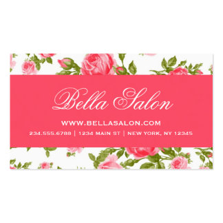 Rosas florais do vintage elegante chique feminino cartao de visita