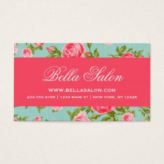 Rosas florais do vintage elegante chique feminino cartão de visitas