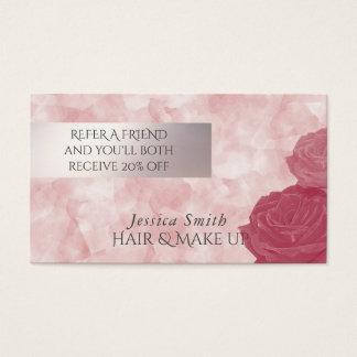 Rosas glamoroso da aguarela do cartão da
