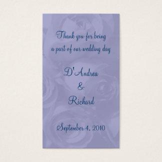 """""""Rosas no azul"""" - 'marcador empoeirados Cartão De Visitas"""