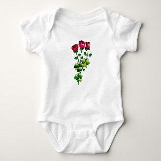 Rosas no Bodysuit do bebê Body Para Bebê