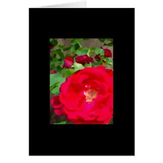 """""""Rosas no cartão floral vazio do óleo"""" -"""
