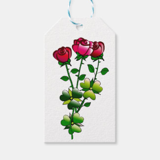Rosas no Tag-Espaço do presente para o nome no