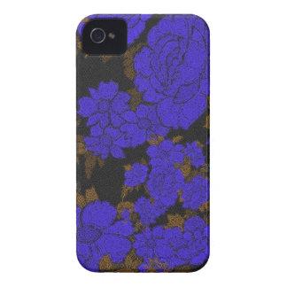 Rosas originais do abstrato do azul capa para iPhone