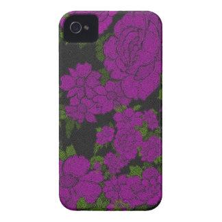 Rosas originais do abstrato do roxo capas para iPhone 4 Case-Mate