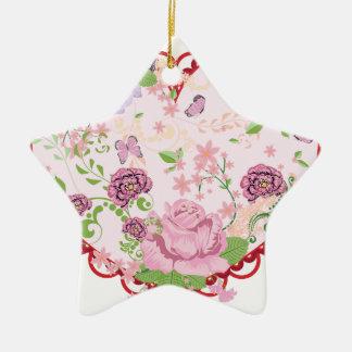 Rosas ornamento do vintage e coração 2