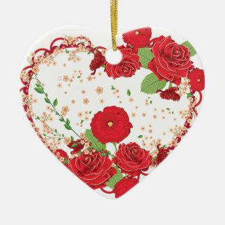 Rosas ornamento do vintage e coração 3