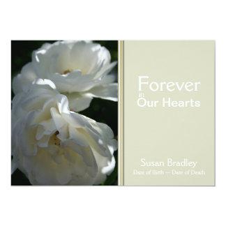 Rosas para sempre em nossa cerimonia comemorativa convite 12.7 x 17.78cm