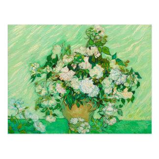 Rosas pelo cartão de Van Gogh