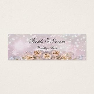 Rosas que Wedding o Tag do favor Cartão De Visitas Mini