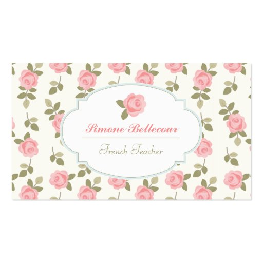 Rosas românticos do vintage de Alice Cartões De Visitas