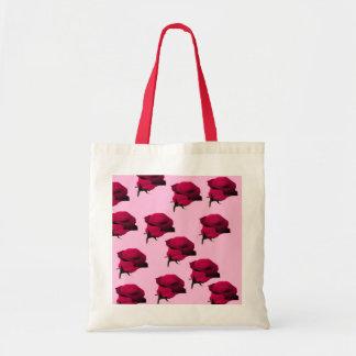 Rosas rosetas bolsas de lona