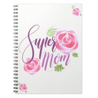 Rosas super do acento da mamã da aguarela caderno