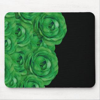 Rosas verdes fluorescentes Mousepad