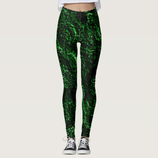 Rosas verdes verdadeiros do gótico leggings