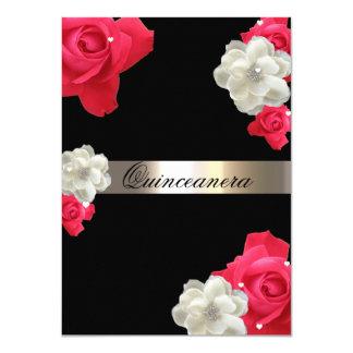 Rosas vermelhas, convite feito sob encomenda de
