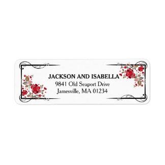 Rosas vermelhas elegantes que Wedding etiquetas de
