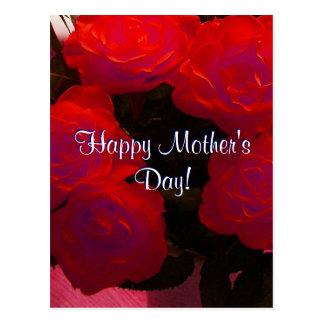 Rosas vermelhas felizes do dia das mães