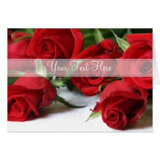 Rosas vermelhas personalizadas bonitas toda a cartão
