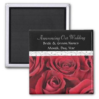 Rosas vermelhas que Wedding a imã salve a data