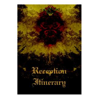 Rosas vermelhas romance gótico do laço modelos cartões de visitas