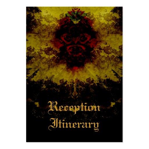 Rosas vermelhas & romance gótico do laço modelos cartões de visitas