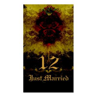 Rosas vermelhas romance gótico do laço cartao de visita
