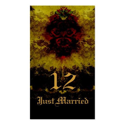 Rosas vermelhas & romance gótico do laço cartao de visita
