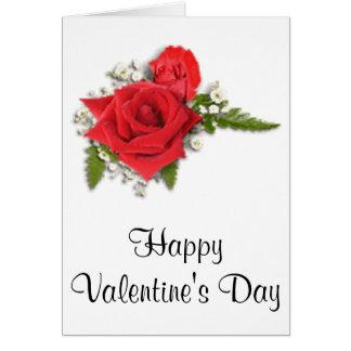 Rosas vermelhas românticas do dia dos namorados cartão comemorativo