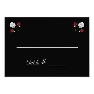 Rosas vermelhos e brancos que wedding o cartão do convite 8.89 x 12.7cm