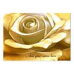 Rose_ dourado modelos cartão de visita