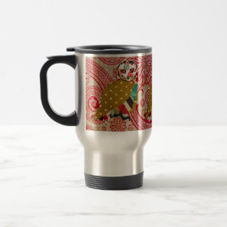 Rose Owl Red Boho Travel Mug