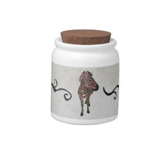 Rose Zebra Urban Ornate  Cookie Jar Candy Jars