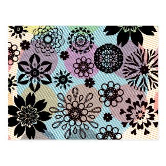 Rosette flowers tem-se stripped contexto cartão postal