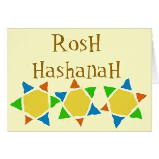 Rosh Hashanah Cartão De Nota