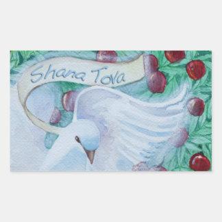 Rosh Hashanah Shana Tova mergulhou com etiqueta da Adesivo Retângular