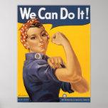 Rosie o poster da guerra mundial 2 do rebitador